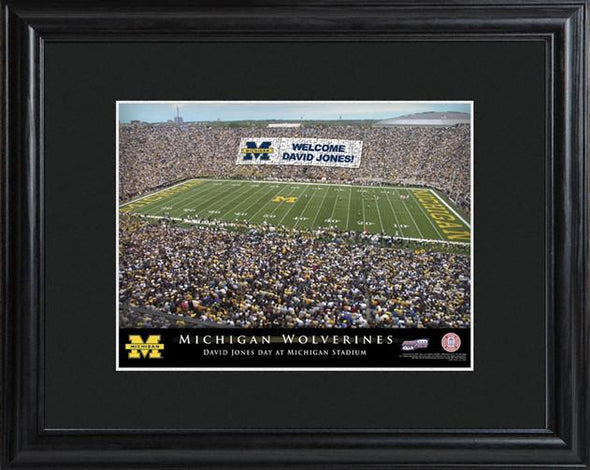 Personalized College Stadium Sign w/Matted Frame - Michigan - JDS
