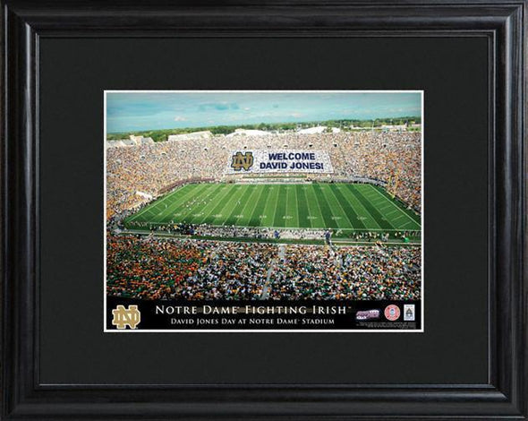 Personalized College Stadium Sign w/Matted Frame - NotreDame - JDS