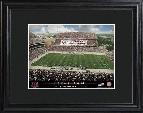 Personalized College Stadium Sign w/Matted Frame - TexasA&M - JDS
