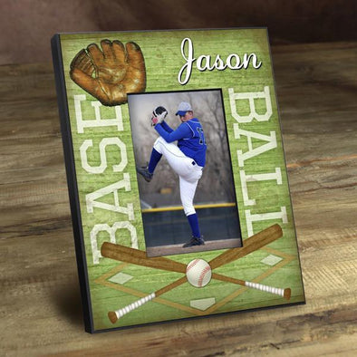 Personalized Picture Frames -  Kids Sports Frame - Baseball - JDS