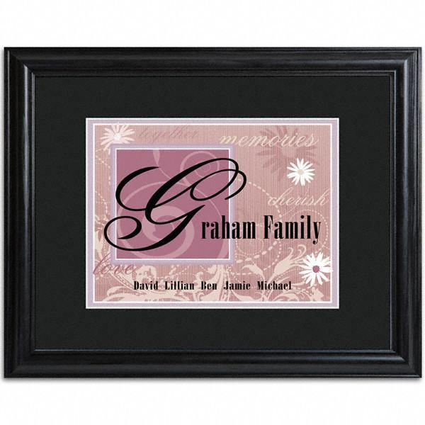 Personalized-Purple-Family-Name-Frame