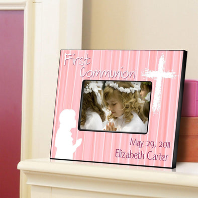 Personalized First Communion Picture Frame - All - Pink - JDS