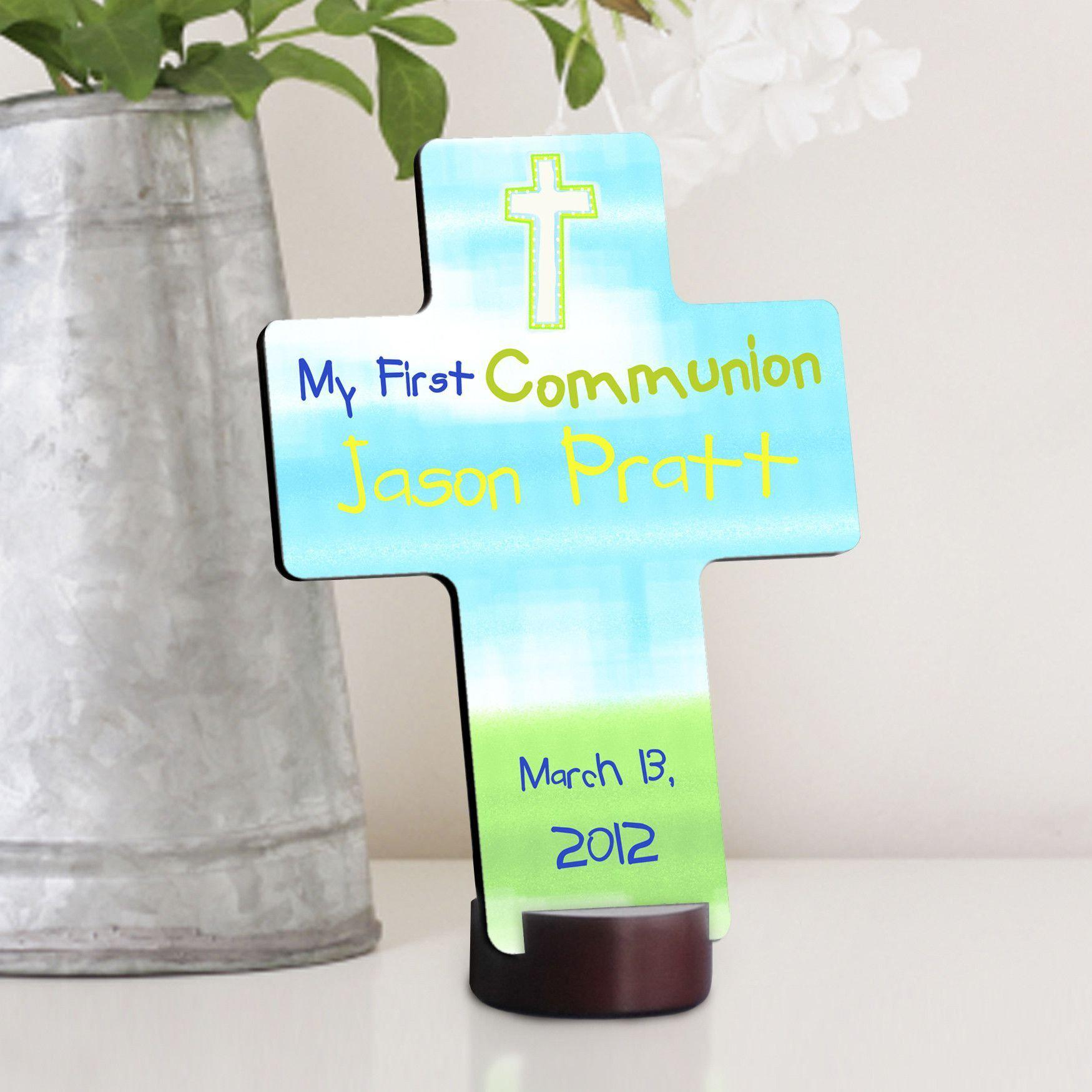 Personalized Bright Blessing First Communion Cross