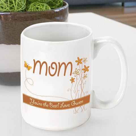 Personalized  Mother's Day Coffee Mug - Spring - Gifts for Mom - AGiftPersonalized