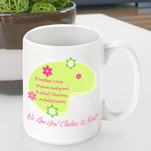 Personalized  Mother's Day Coffee Mug - Love Grows - Gifts for Mom - AGiftPersonalized