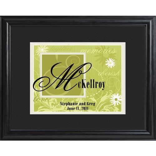 Personalized Green Couple's Name Frame