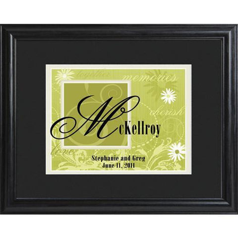 Personalized Green Couple's Name Frame -  - Personalized Wall Art - AGiftPersonalized