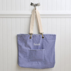 Personalized Canvas Tote Bag - Choose from 4 Colors - Blue - Tote Bags - AGiftPersonalized