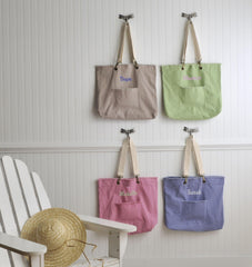 Personalized Canvas Tote Bag - Choose from 4 Colors