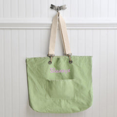 Personalized Canvas Tote Bag - Choose from 4 Colors - Green - Tote Bags - AGiftPersonalized