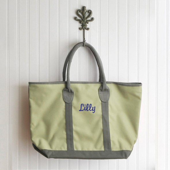 Personalized Tote Bag - Heavy Canvas - Countryside - Green - JDS
