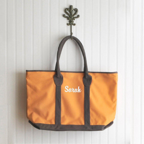 Personalized Tote Bag - Heavy Canvas - Countryside - Orange - Tote Bags - AGiftPersonalized