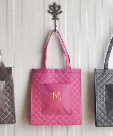 Personalized Tote Bags - Village Shopping - 2 Colors - Magenta - JDS