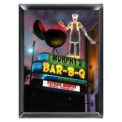 Personalized Marquee Traditional Sign - BBQ