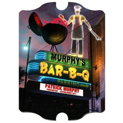 Personalized Marquee Vintage Sign - BBQ