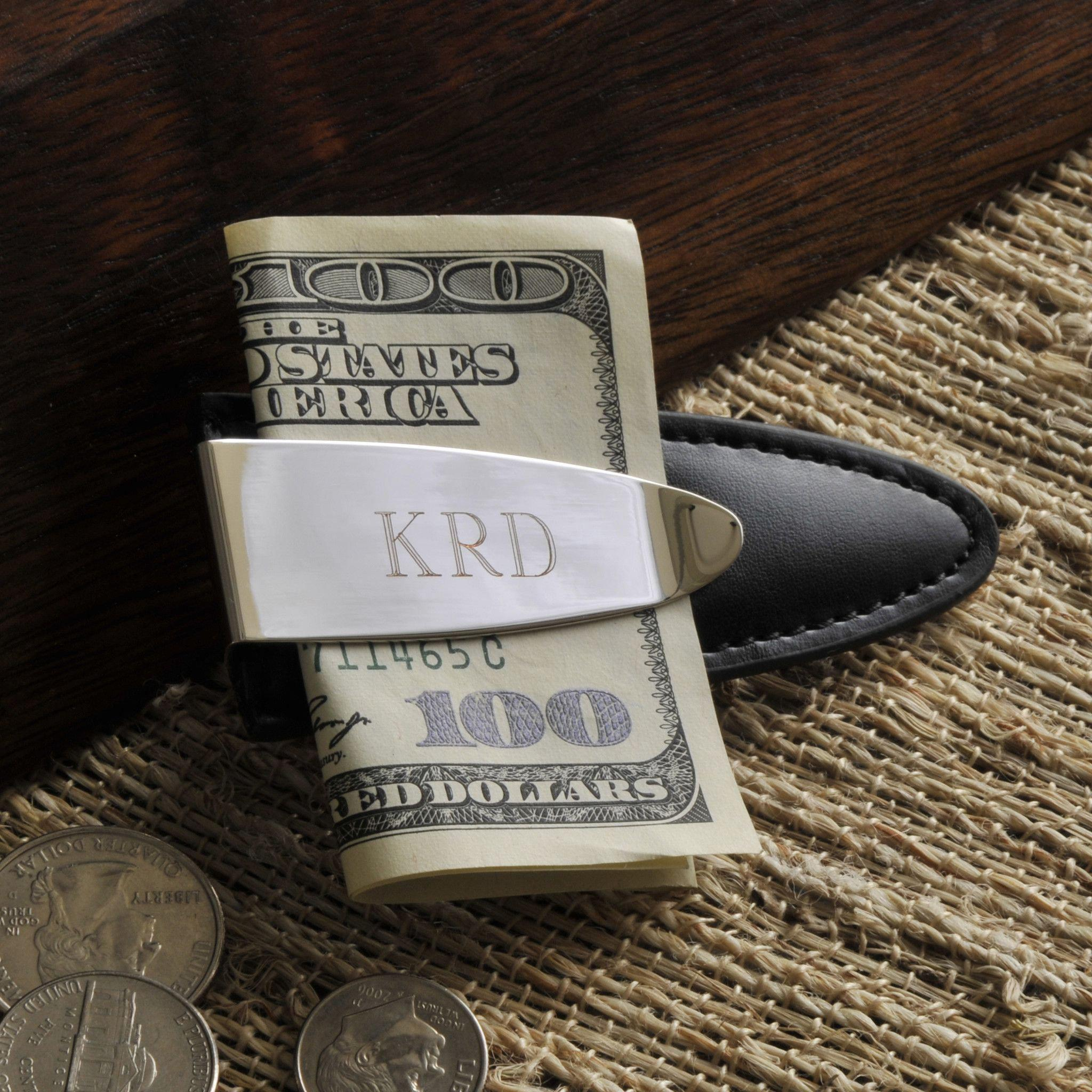 Personalized Leather Easy Fit Money Clip