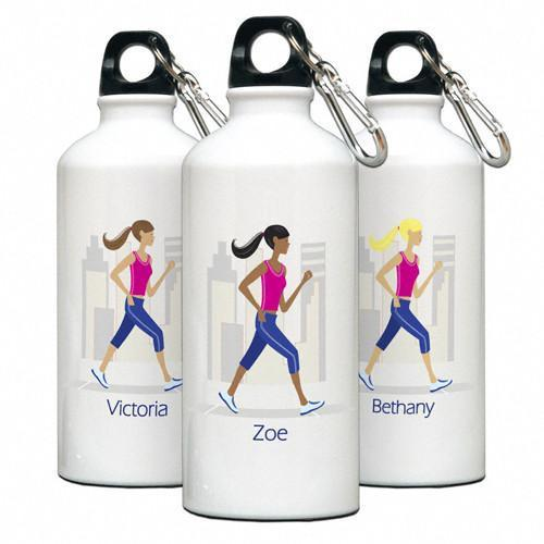 Personalized Go-Girl Water Bottle - Golfer, Runner, Shopper, Yoga - Runner - JDS