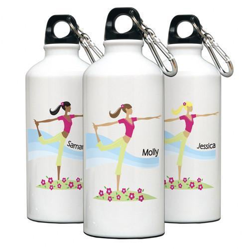 Personalized Go-Girl Water Bottle - Golfer, Runner, Shopper, Yoga - Yoga - JDS