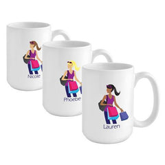 Personalized Go-Girl Coffee Mug - Shopper -  - Gifts for Her - AGiftPersonalized