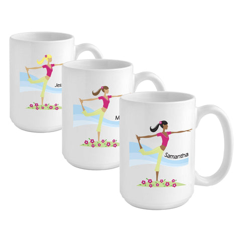 Personalized Go-Girl Coffee Mug - Golfer, Runner, Shopper, Yoga - Yoga - Gifts for Her - AGiftPersonalized