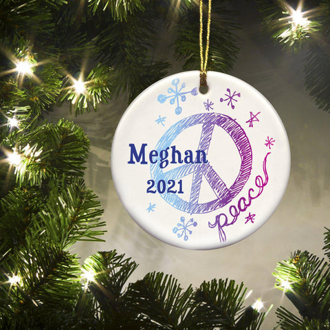 Personalized Ornaments - Christmas Ornaments - Kids - Ceramic - Serenity
