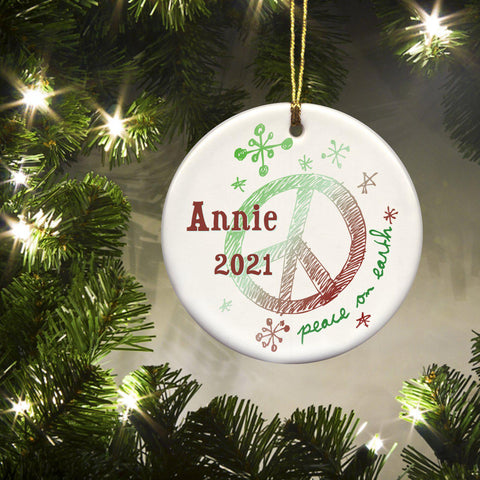 Personalized Ornaments - Christmas Ornaments - Kids - Ceramic - Holiday - Ornaments - AGiftPersonalized