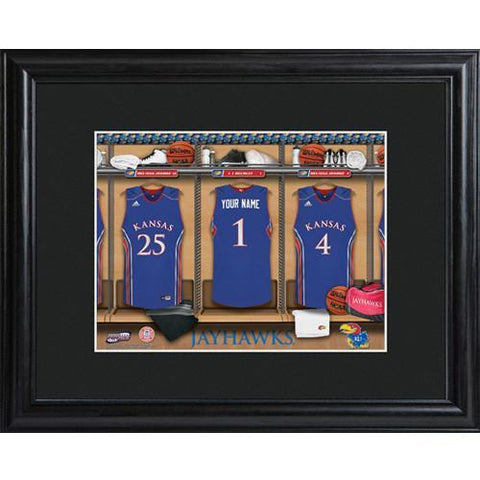 Personalized College Basketball Locker Room Sign - Personalized University Wall Art - Kansas