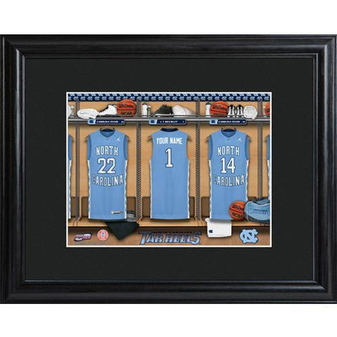 Personalized College Basketball Locker Room Sign - Personalized University Wall Art - NorthCarolina