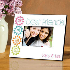 Personalized Picture Frame - BFF - Peonies - Frames - AGiftPersonalized