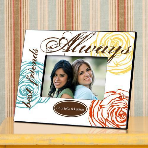 Personalized-Picture-Frame-Forever-Friends-Colorful-Bouquet