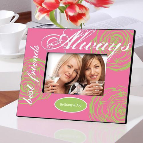 Personalized Picture Frame - Forever Friends Pretty in Pink -