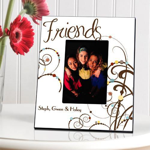 Personalized Cheerful Friendship Picture Frame - Brown - JDS