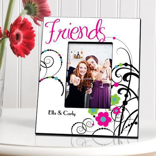Personalized Cheerful Friendship Picture Frame - Black - JDS