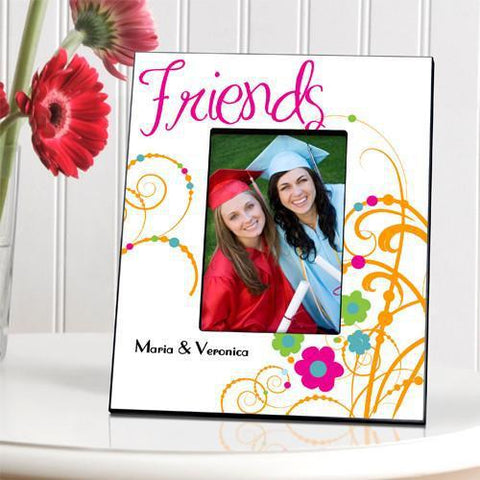 Personalized Picture Frame - Cheerful Friendship - Orange