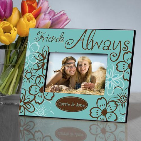 Personalized Picture Frame - Everlasting Friends - Blue