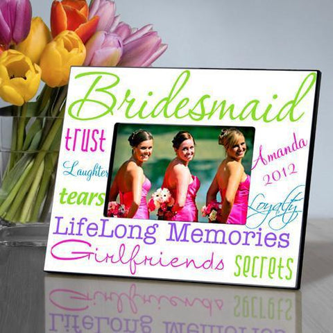 Personalized Picture Frame - Bridesmaid - Green - Frames - AGiftPersonalized