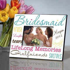 Personalized Picture Frame - Bridesmaid - Blue - Frames - AGiftPersonalized