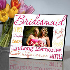Personalized Picture Frame - Bridesmaid - HotPink - Frames - AGiftPersonalized