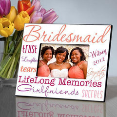 Personalized Picture Frame - Bridesmaid - Orange - Frames - AGiftPersonalized