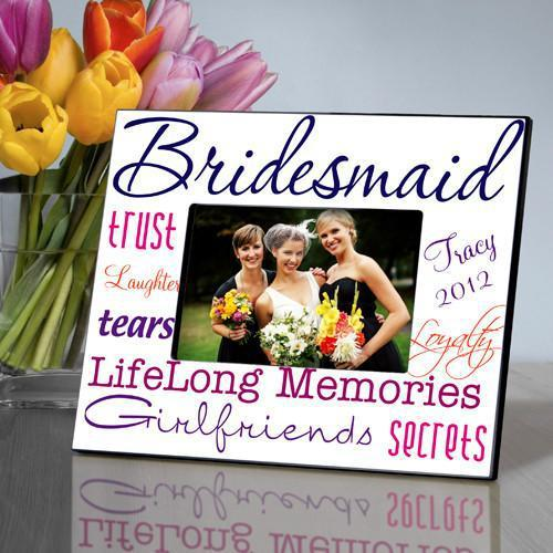 Personalized Picture Frame - Bridesmaid - Navy - JDS