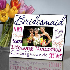 Personalized Picture Frame - Bridesmaid - Navy - Frames - AGiftPersonalized