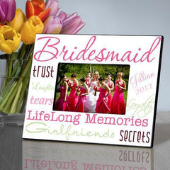 Personalized Picture Frame - Bridesmaid - Pink - Frames - AGiftPersonalized