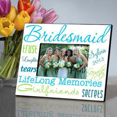 Personalized Picture Frame - Bridesmaid - BrightBlue - Frames - AGiftPersonalized