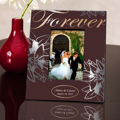Personalized  Forever Silver/Gold Couple's Picture Frame -  - JDS