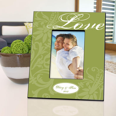 Personalized Picture Frame - Love - Green - JDS