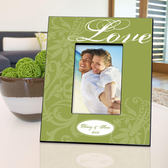 Personalized Love Picture Frame - Green - JDS