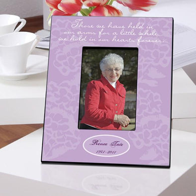 Personalized Memorial Picture Frame - Lavender Hearts -  - JDS