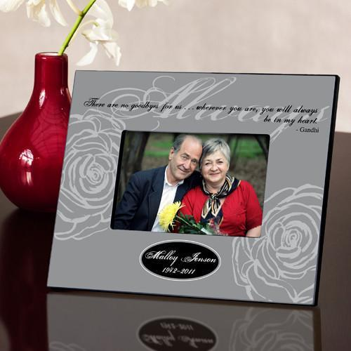 Personalized Always Memorial Picture Frame Gray