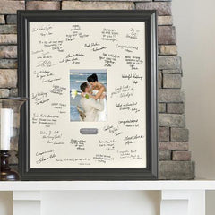 Personalized Wedding Signature Frame at AGiftPersonalized