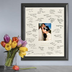Personalized Wedding Signature Frame - Laser Engraved - Wedding Gifts